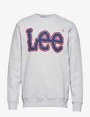 Lee Jeans - LOGO SWS - sweatshirts - sharp grey mele - 0