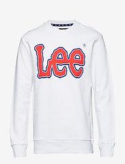 Lee Jeans - LOGO SWS - sweatshirts - white - 0