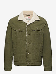 Lee Jeans - SHERPA JACKET - denim jackets - olive green - 0