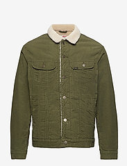Lee Jeans - SHERPA JACKET - denim jackets - olive green - 1