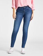 Lee Jeans - SCARLETT HIGH ZIP - slim jeans - mid candy - 0