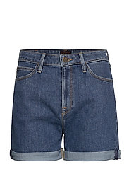 MOM SHORT - MID STONEWASH