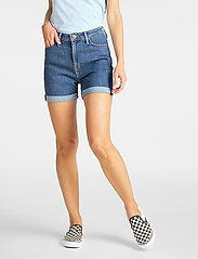 Lee Jeans - MOM SHORT - denimshorts - mid stonewash - 0