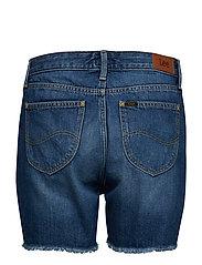 Lee Jeans - BOYFRIEND SHORT - denim shorts - flick dark - 1