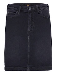 A Line Zip Skirt - CAPTAIN BLACK