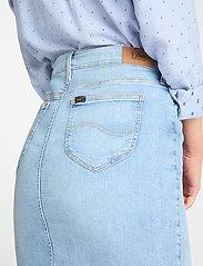 Lee Jeans - PENCIL SKIRT - denimskjørt - light coroval - 4