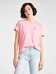 Lee Jeans - GARMENT DYED TEE - t-shirts - la pink - 0