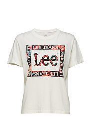 FLORAL GRAPHIC TEE - BRIGHT WHITE