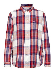 ONE POCKET SHIRT - BRIGHT RED