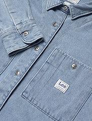 Lee Jeans - WORKER SHIRT - jeansskjortor - faded blue - 4
