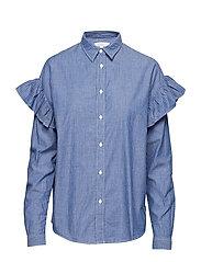 Ruffle shirt - WORKWEAR BLUE