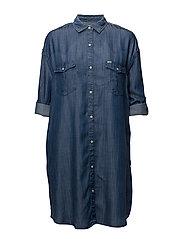 SHIRT DRESS - BLEACHED DENIM