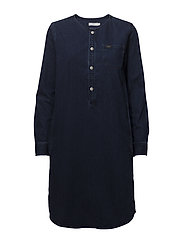 OVERSIZED DRESS - WORN BLUE