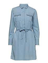 DENIM DRESS - FADED BLUE