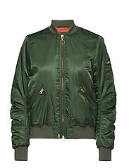 SATEEN BOMBER - NEW ARMY GREEN