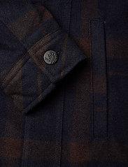 Lee Jeans - WOOL CHECK SHERPA JK - wool jackets - winter brown - 3