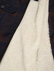 Lee Jeans - WOOL CHECK SHERPA JK - wool jackets - winter brown - 4