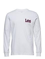 LS GRAPHIC TEE - BRIGHT WHITE