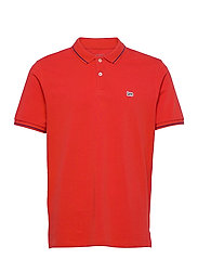 PIQUE POLO - WASHED RED