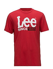 1889 LOGO T - BRIGHT RED