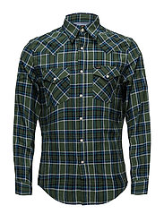 LEE WESTERN SHIRT NEW ARMY GREEN - NEW ARMY GREEN