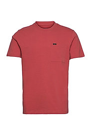 SS POCKET TEE - WASHED RED