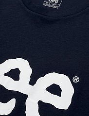 Lee Jeans - WOBBLY LOGO TEE - short-sleeved t-shirts - navy drop - 2
