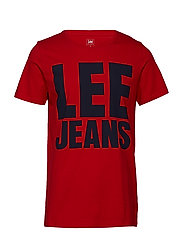 LEE JEANS GRAPHIC TE - BRIGHT RED
