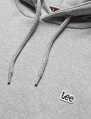Lee Jeans - PLAIN HOODIE - basic sweatshirts - grey mele - 2