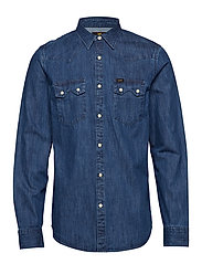 LEE RIDER SHIRT - DIPPED BLUE