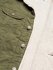 Lee Jeans - SHERPA JACKET - denim jackets - olive green - 5