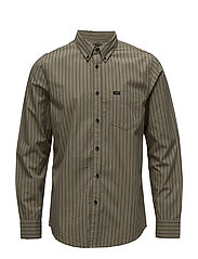 LEE BUTTON DOWN - ARMY GREEN