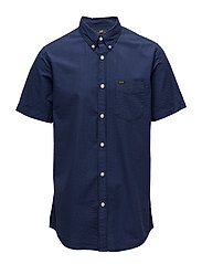 LEE BUTTON DOWN SS - NAVY DROP