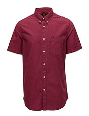 LEE BUTTON DOWN SS - BRIGHT RED