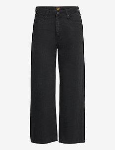 WIDE LEG - brede jeans - black duns