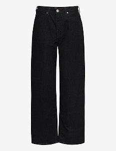 Wide Leg - bukser med brede ben - black