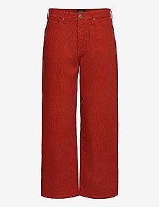 Wide Leg - vide bukser - red ocre