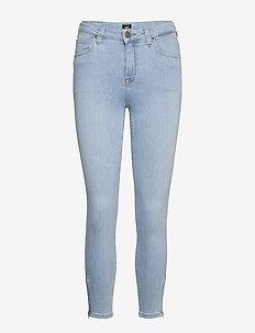 SCARLETT HIGH ZIP - slim jeans - light coroval