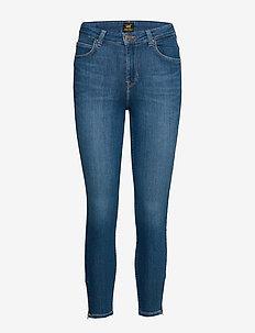 SCARLETT HIGH ZIP - slim jeans - mid candy