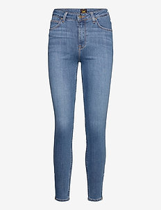 Scarlett High Zip - dżinsy skinny fit - mid foster