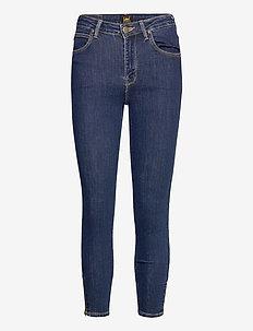 Scarlett High Zip - skinny jeans - stone travis