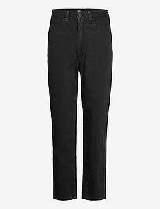 STELLA TAPERED - mom jeans - black duns