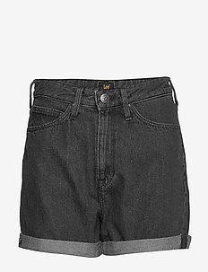 MOM SHORT - korte jeansbroeken - scarbro black