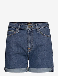 MOM SHORT - denimshorts - mid stonewash