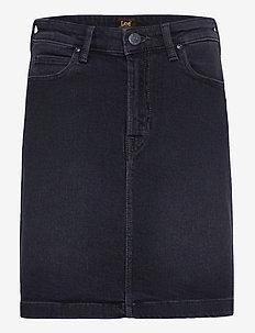 A Line Zip Skirt - denimskjørt - captain black