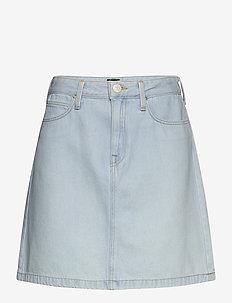 A LINE ZIP SKIRT - jeansowe spódnice - bleached ore