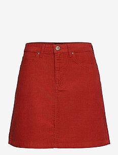 A Line Zip Skirt - kort skjørt - red ocre