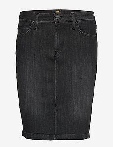 PENCIL SKIRT - jeansrokken - black orrick