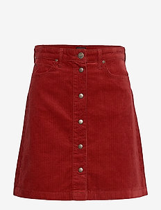 A LINE SKIRT - biking red