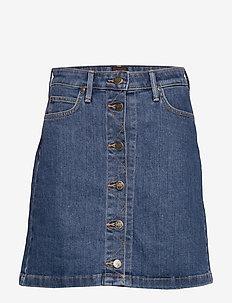 A LINE SKIRT - jeanskjolar - mid stonewash